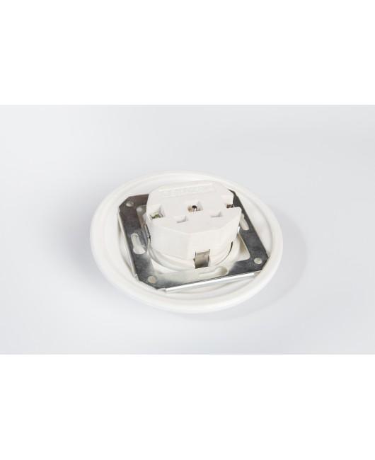 Zemapmetuma rozete ar sazemējumu Balta