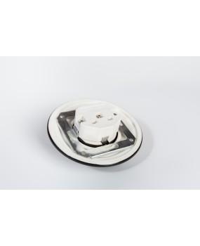 Zemapmetuma rozete ar sazemējumu Melna